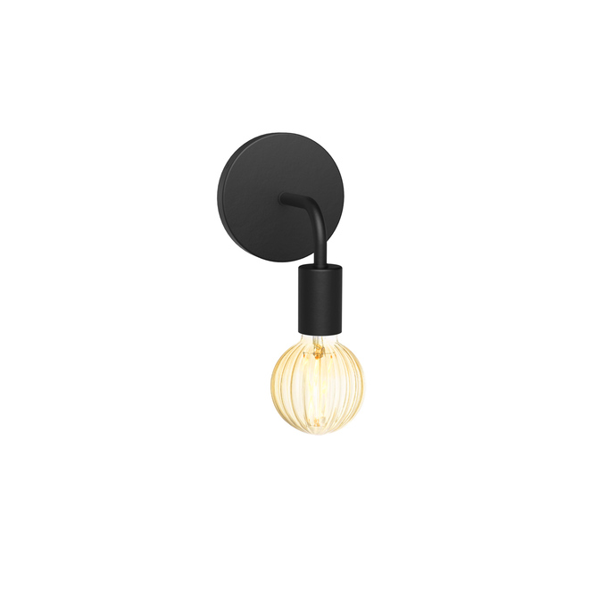Prospect Curved Wall Sconce, Matte Black