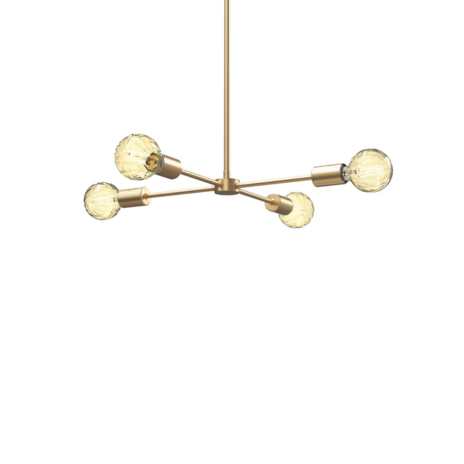 Prospect Collection 4-Light Pendant, Aged Brass