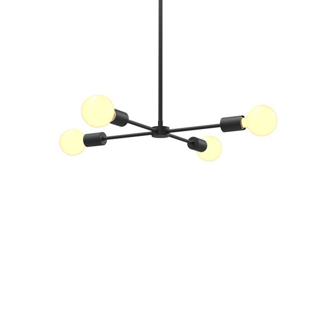 Prospect Collection 4-Light Pendant, Matte Black